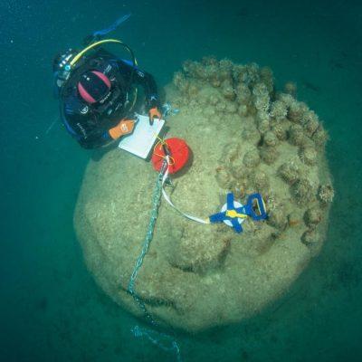 Mesure de la complexité des récifs 3D du Lavrotto (Monaco) à l'aide d'une chaîne