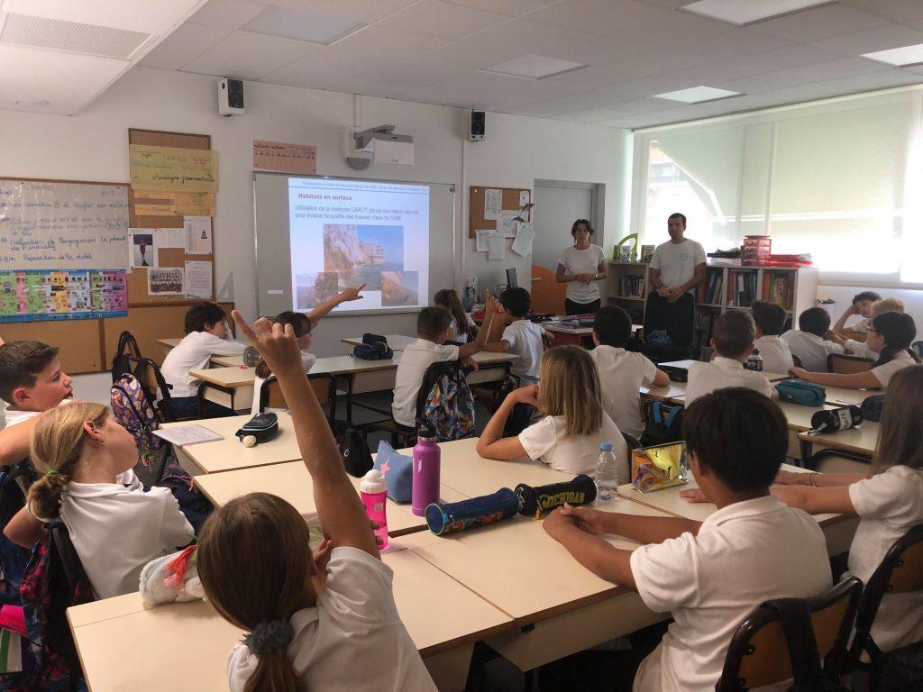 Présentation à l'école des Révoires, place aux multiples questions !