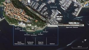 Périmètre de l'AME, séparé en zones pour la réalisation de l'état des lieux écologique
