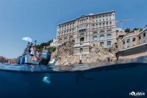 Fin de plongée au pied du Musée océanographique de Monaco